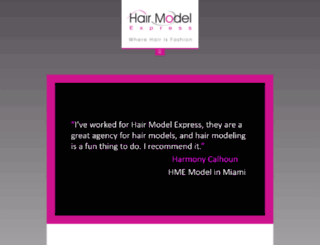 hairmodelexpress.com screenshot