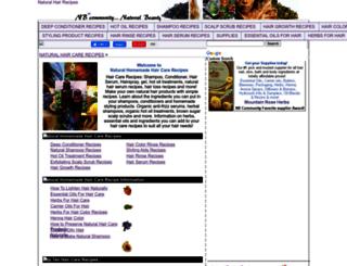 hairrecipes.homestead.com screenshot