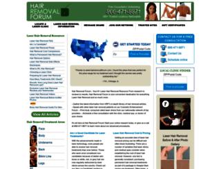 hairremovalforum.com screenshot