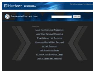 hairremovalpreview.com screenshot