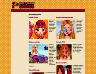 hairstyles.goldhairgames.com screenshot
