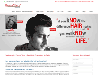 hairtransplantdelhi.dermaclinix.in screenshot