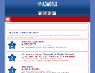 hairtransplantkolkata.adworld-india.co.in screenshot