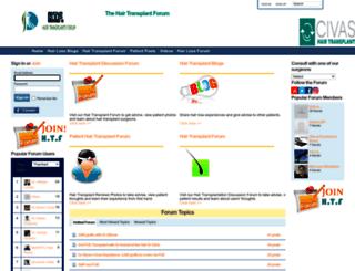 hairtransplantsforum.com screenshot