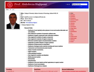 hajipour.iut.ac.ir screenshot