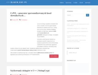 haker.edu.pl screenshot