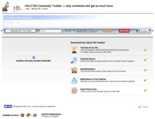 halafm.myradiotoolbar.com screenshot