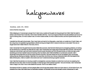 halcyonwaves.blogspot.sg screenshot