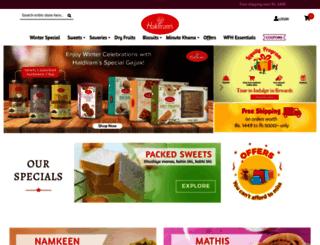 haldiramsonline.com screenshot