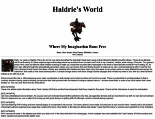 haldrie.com screenshot