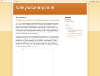 haleysoceanplanet.blogspot.com screenshot