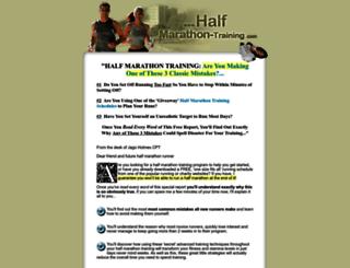 halfmarathon-training.com screenshot