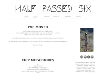 halfpassedsix.blogspot.com screenshot