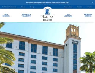 halifaxhealth.com screenshot