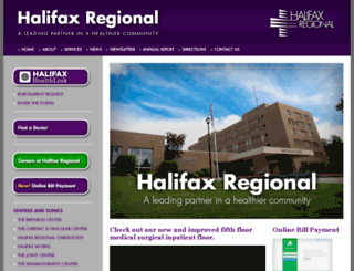 halifaxmedicalcenter.org screenshot