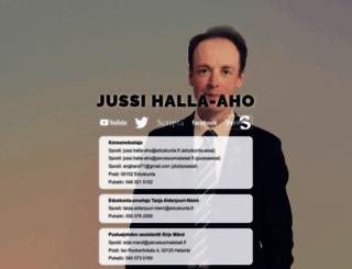 halla-aho.com screenshot