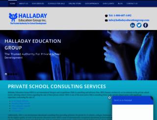 halladayeducationgroup.com screenshot