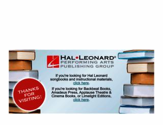 halleonardbooks.com screenshot