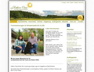 hallers-oase.de screenshot