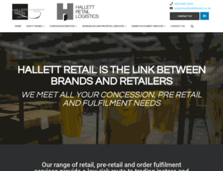 hallettretail.co.uk screenshot