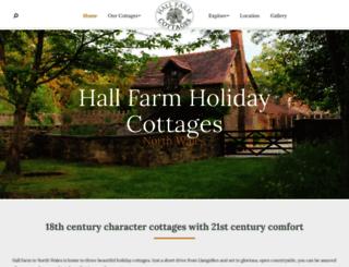 hallfarmholidaycottages.co.uk screenshot