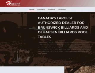 hallmarkbilliards.com screenshot