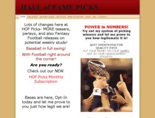 halloffamepicks.com screenshot