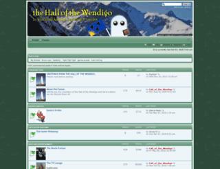 hallofthewendigo.informe.com screenshot