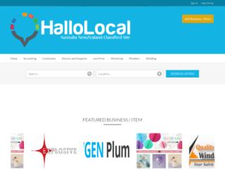 hallolocal.com screenshot