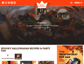hallowaiian.com screenshot