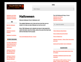 halloween.com screenshot