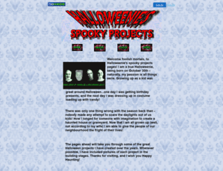 halloweenie.50megs.com screenshot