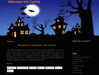 halloweeninfocentral.com screenshot