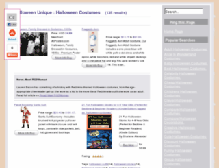 halloweenunique.com screenshot
