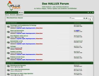 hallux-forum.de screenshot