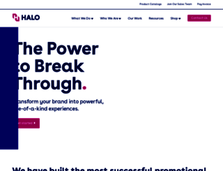 halo.com screenshot