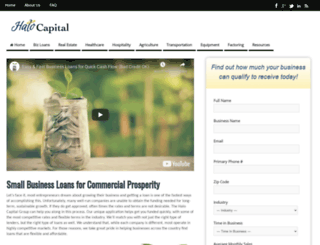 halocapitalgroup.com screenshot