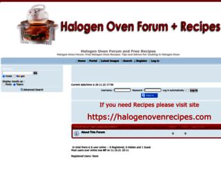 halogenovenrecipes.forumotion.com screenshot