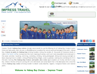 halongbaycruisejunk.com screenshot