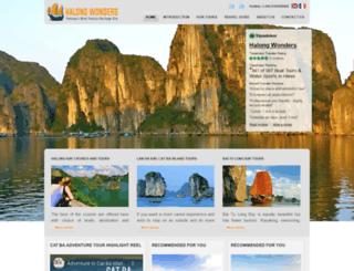 halongwonders.com screenshot