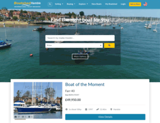 hamble.boatshed.com screenshot