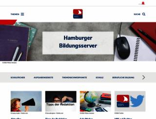 hamburger-bildungsserver.de screenshot