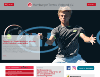 hamburger-tennisverband.de screenshot