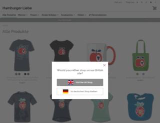 hamburgerliebe.spreadshirt.de screenshot