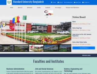 hamdarduniversity.edu.bd screenshot