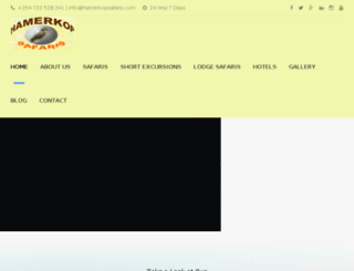 hamerkopsafaris.com screenshot