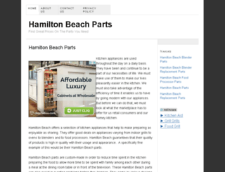 hamiltonbeachparts.net screenshot