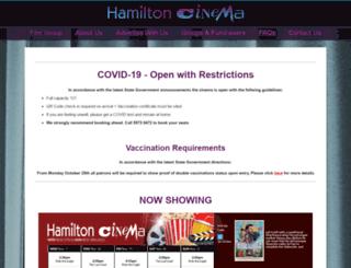 hamiltoncinema.com.au screenshot