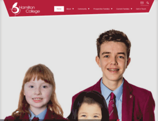 hamiltoncollege.co.uk screenshot