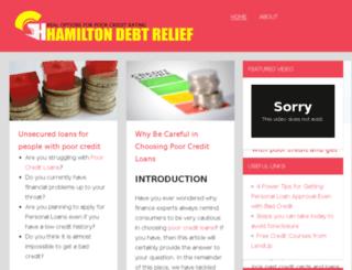 hamiltondebtrelief.com screenshot